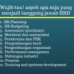 Aspek-aspek yang menjadi tanggung jawab HRD